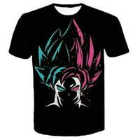 Fancyleo Men Print T-Shirt Goku Digital T Shirt Goku Graphic Printed Top Anime Z Dragon Ball 3D Print Tee