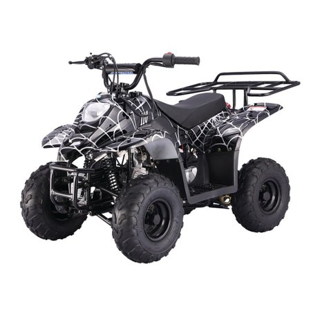 Spider Black TaoTao Boulder B1 110cc ATV with Automatic Transmission, Remote Control! Rear Rack!