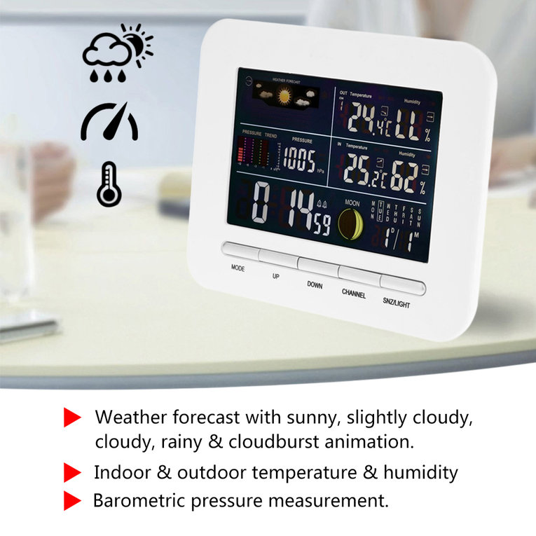 Wireless Professional Weather Station Indoor Outdoor Thermometer Humidity