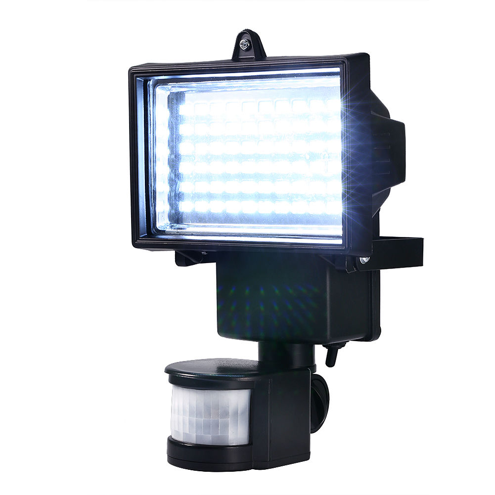 60 LED Solar Panel Powered Motion Sensor With Lighting Lamp For Outdoor Flood Garden Security