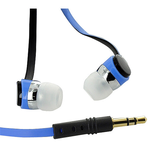 MEElectronics RX12 Flat Cable Ear Buds, Blue