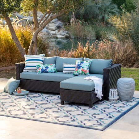 Belham Living Cara All Weather Wicker Sectional Sofa Set