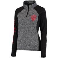 Indiana Hoosiers Women's Finalist Quarter-Zip Pullover Jacket - Gray/Black