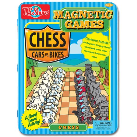 T.S. Shure Chess Magnetic Game Tin – Cars vs. Bikes Theme
