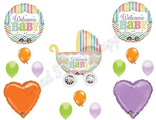 IT/'S A GIRL BUTTERFLY Baby Shower Balloons Decoration Supplies Luncheon Outdoor