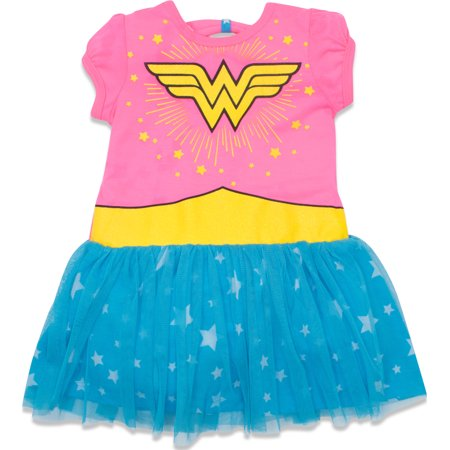 Wonder Woman Toddler Girls' Tulle Dress, Pink and Blue - Wonder Woman Dress