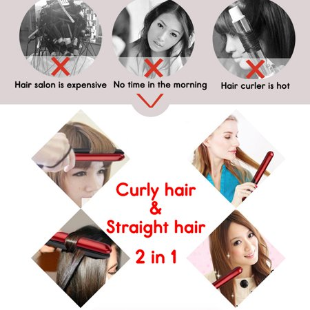 120-200℃ Hair Straightener Curling Iron Hair Styling Curler Quick Hair Style LCD Display - image 8 de 13