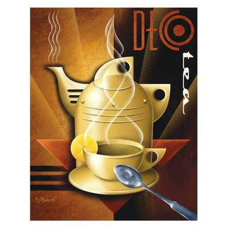 Deco Tea Art Print By Michael L. Kungl - 12x15 Art Deco Floral Print