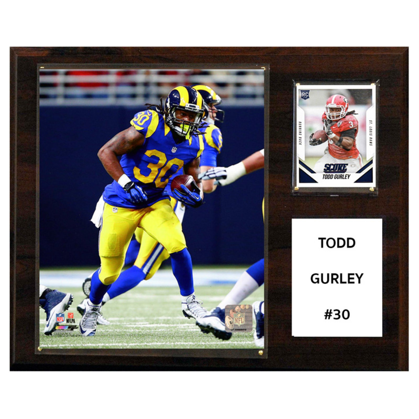 C&I Collectables NFL 12x15 Todd Gurley St. Louis Rams Player Plaque