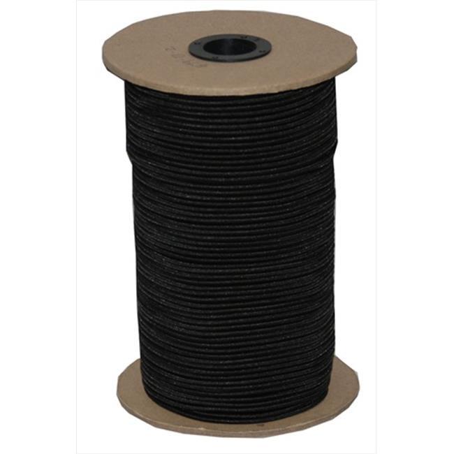 T.W. Evans Cordage SC-104-500 .25 in. x 500 ft. Black Elastic Bungee Shock Cord in Black