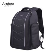 Andoer Professional 600D Fabric Material Camera Backpack Bag for 2 DSLR SLR Cameras 6 Lenses Tripod Flash and Accessories