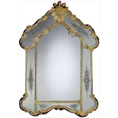 Italian Murano Glass Flower - Wall Mirror DAVID MICHAEL REFLECTIONS Venetian Italian Murano Glass New H DM-100