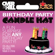 Star Power Adult Over The Hill Candle Party Hat, Black, One Size