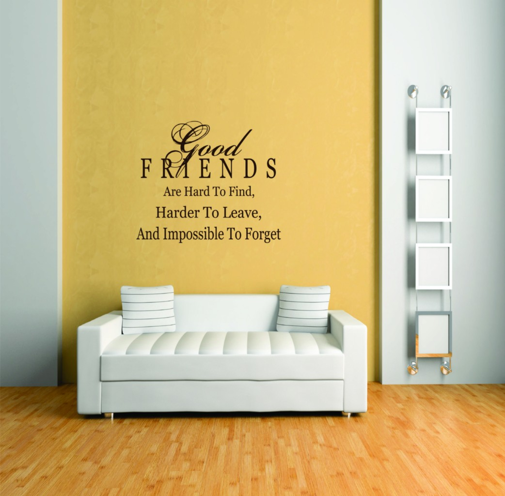 Good Friends Are Hard To Find Picture Art – Living Room Sticker Vinyl Wall Decal 16  X 16 Inches