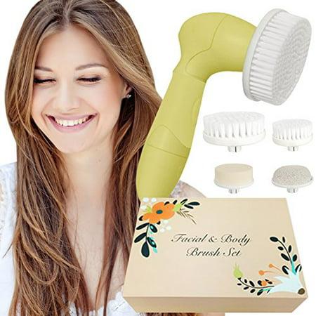 Skin Cleansing System Facial Brush & Body Care Kit - Vintage Citrus Facial Brush