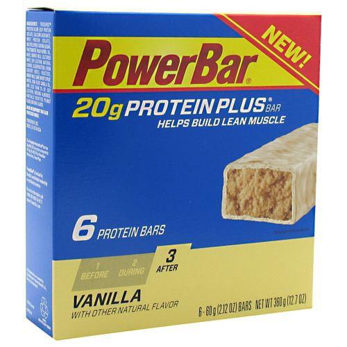 PowerBar Vanilla 20 g Protein Plus Bars, 2.12 oz, 6 ct