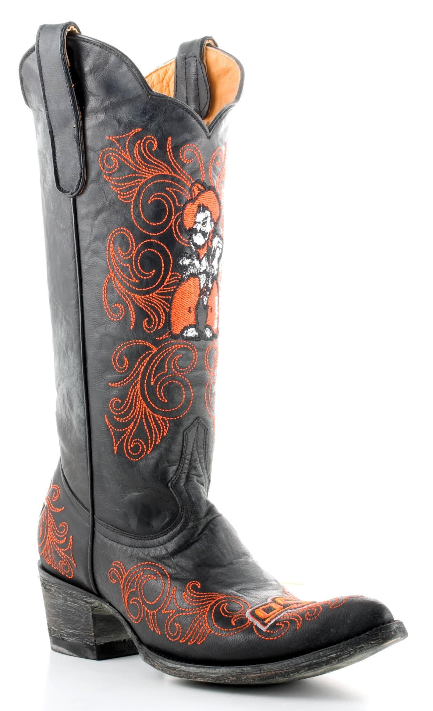 "Gameday Womens 13"" Leather Oklahoma State Cowboy Boots OSU-L004 by GameDay Boots"