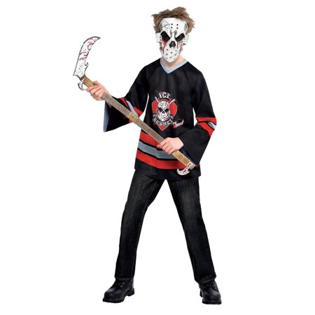 Halloween Faces For Kids (Halloween Child Bloody Face Off Hockey Player)