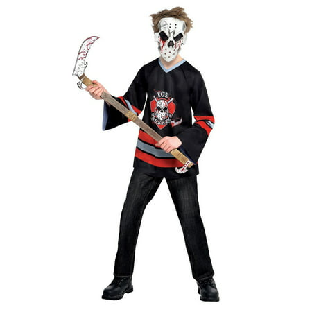 Halloween Child Bloody Face Off Hockey Player Costume](Hockey Players Halloween)