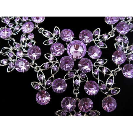 - iLH Crystal Rhinestone Necklace Earring Sets Wedding Bridal Jewelry