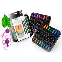 Crayola 16 Count Signature Sketch & Detail Dual-Tip Markers With Decorative Tin