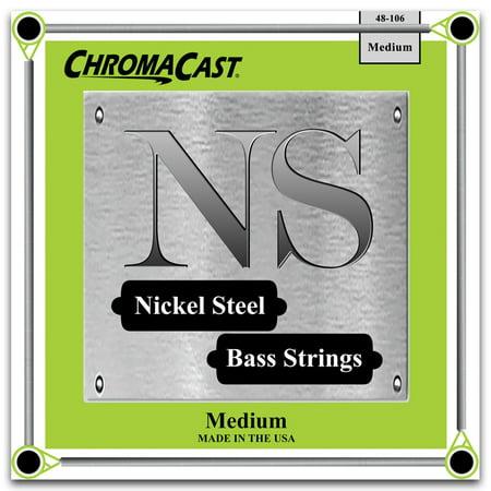 ChromaCast Nickel Steel Bass Guitar Strings, Medium Gauge(48-106)