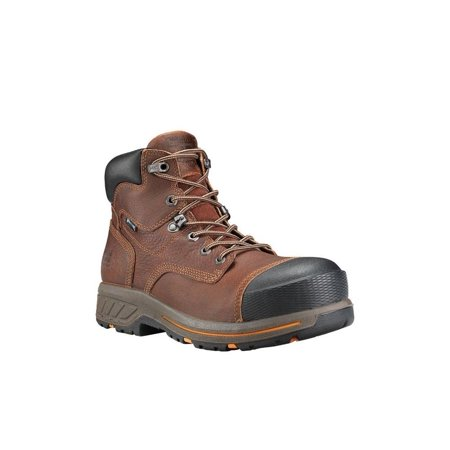 """Timberland PRO Helix HD A1I4H Mens 6"""" Mahogany Comp Toe Waterproof Work Boots"""