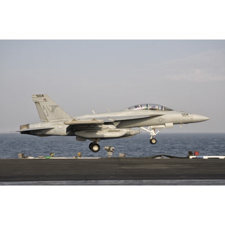 Persian Gulf October 30 2011   An Ea 18G Taking Off From The Flight Deck Of Uss George Hw Bush Poster Print