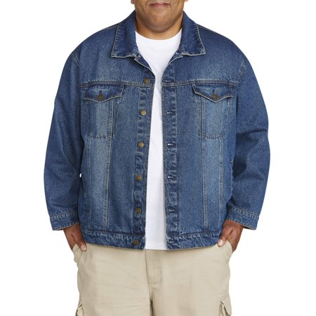Big & Tall Men's Denim Jacket With Flannel Trim Detail ()
