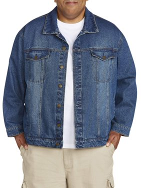 fb9777ce338 Product Image Big & Tall Men's Denim Jacket With Flannel Trim Detail