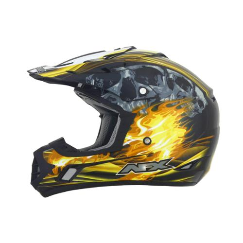 AFX FX-17 Inferno MX Offroad Helmet Black/Yellow Multi