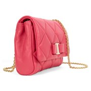 Ferragamo Vara Quilted Nappa Leather Mini Bag - Framboise