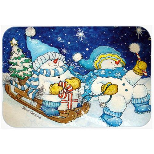 Caroline's Treasures Celebrate the Season of Wonder Snowman Glass Cutting Board