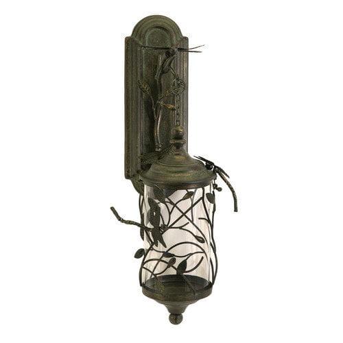 Wildon Home   Dragonfly Verdigris Iron and Glass Lantern