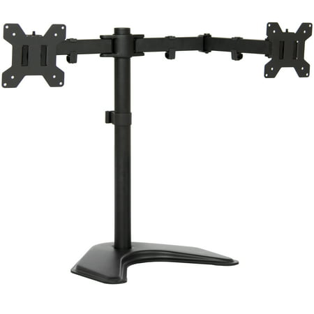 Best Choice Products 4in Wide Adjustable Desk Dual LCD Monitor Stand Mount Screen for Up To 27in - (Best Dual Screen Setup)
