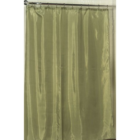 Royal Bath 100 Polyester Fabric Shower Curtain Liner With Weighted Bottom Hem In Sage