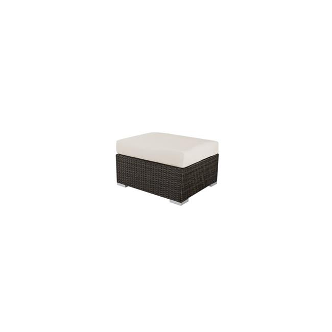 Source Outdoor SO-2004-140-ESP Manhattan Square Shaped Ottoman in Espresso by Source Outdoor