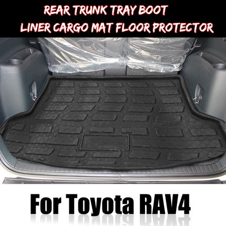 - Car Black Rear Trunk Tray Boot Liner Mat Carpet Pad Floor Protector For Toyota RAV4 2013-2015