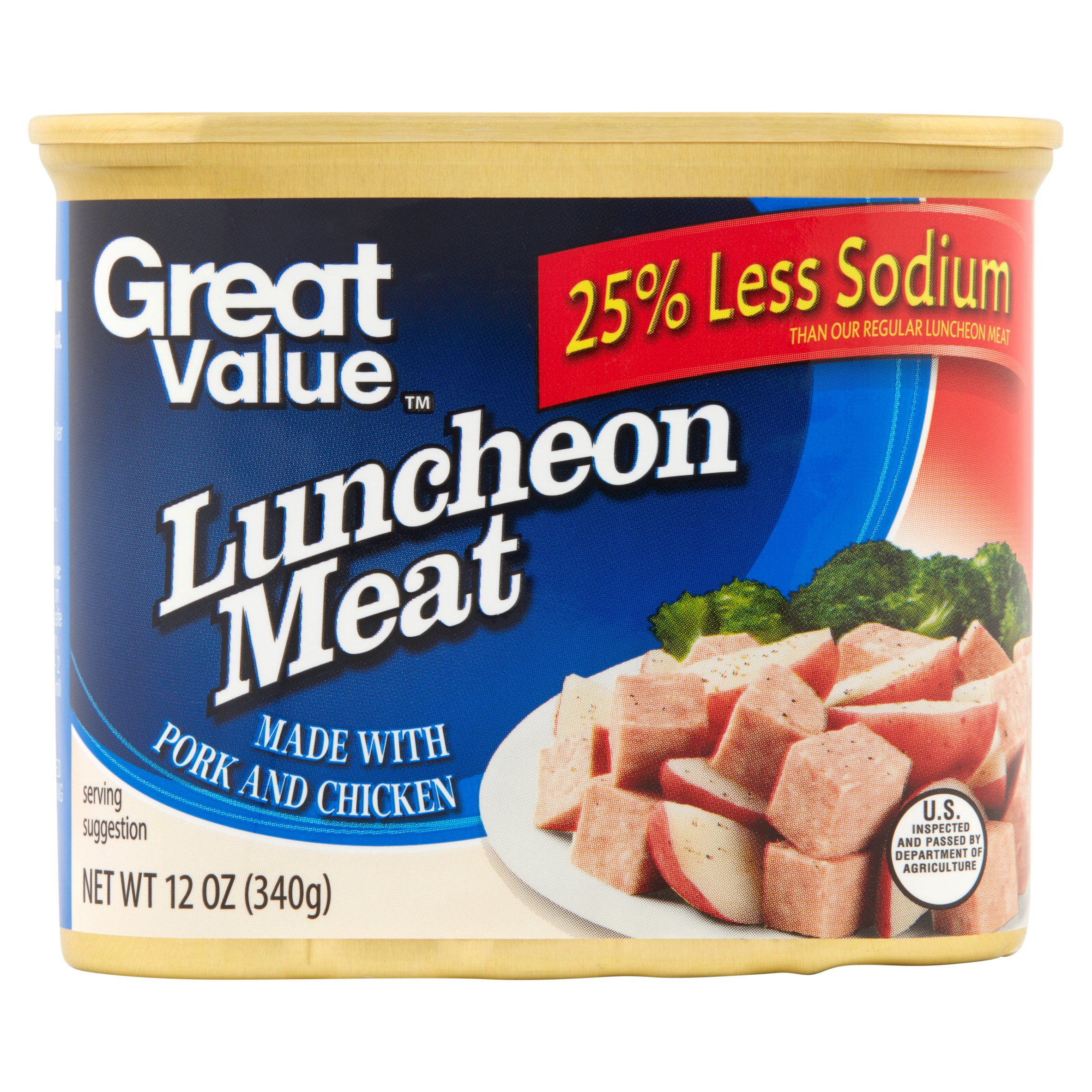 Great Value Less Sodium Luncheon Meat, 12 oz by Wal-Mart Stores, Inc.