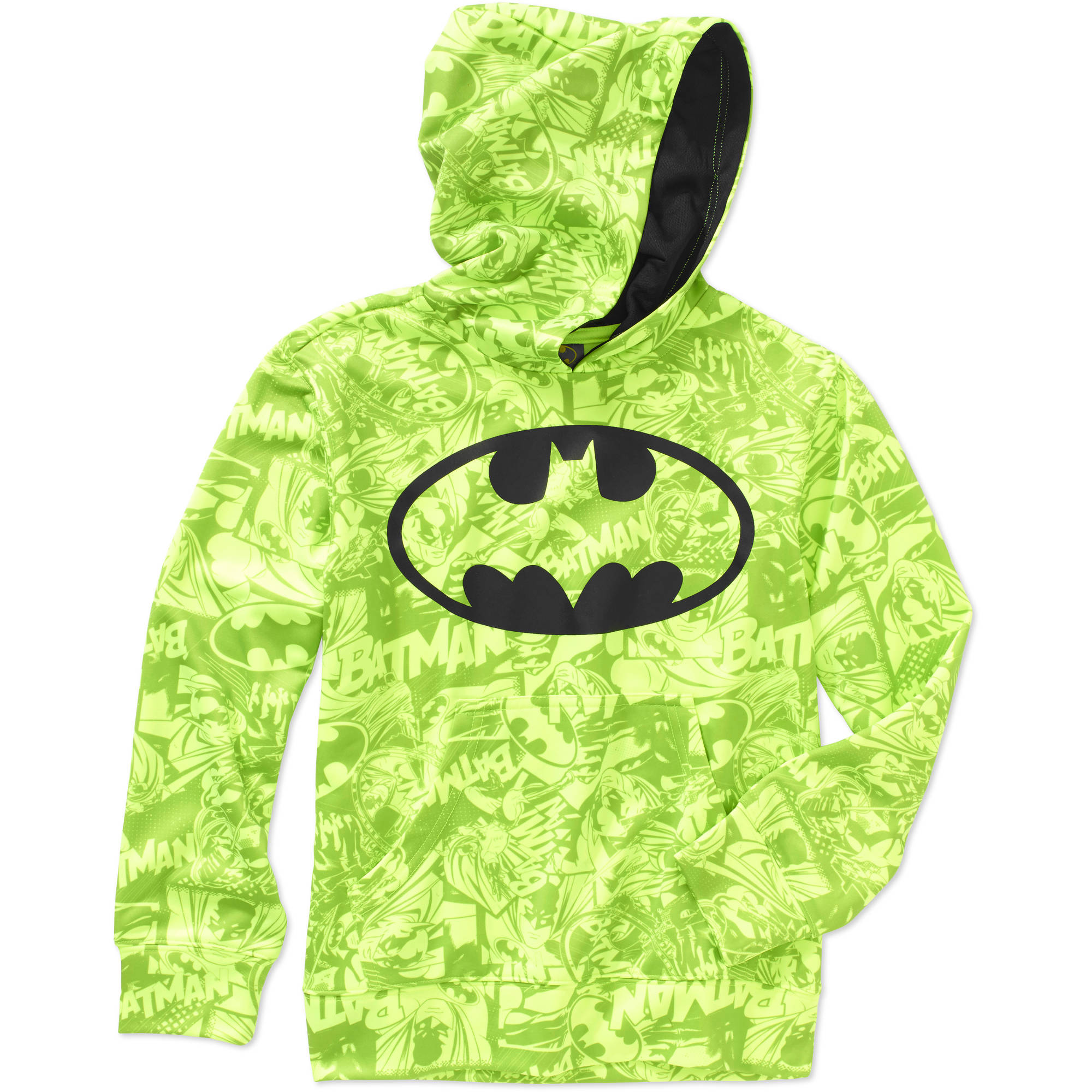 DC Comics Boys' Batman Sublimated Poly Fleece Hoodie