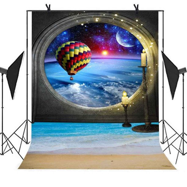 foto de HelloDecor Polyster 5x7ft Magic Star Photography Backdrop Candle ...