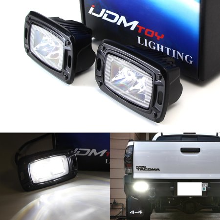 iJDMTOY (2) Flush Mount 10W High Power CREE LED Backup or Driving Pod Lights For Truck Jeep Off-Road ATV 4WD 4x4, Spot Light Beam Pattern