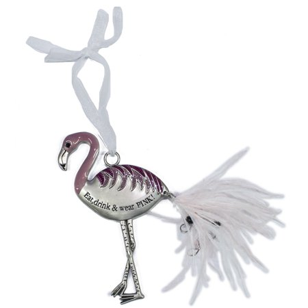 Ganz Inspirational Flamingo Zinc Ornament Collection -Eat, drink and wear pink