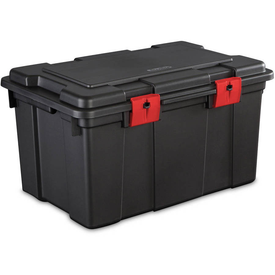 Sterilite 16 Gallon Storage Trunk- Black (Available in Case of 4 or Single Unit)