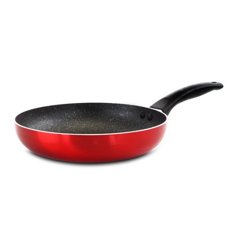 Oster Merrion 9.5 Inch Aluminum Frying Pan in Red