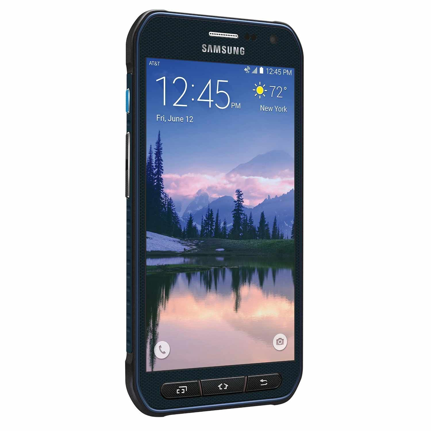 "New Galaxy S6 Active 64GB G890A GSM Unlocked 4G LTE 5.1"" AMOLED Display 3GB RAM 16MP Camera Phone by Samsung  - Blue - USA Warranty"