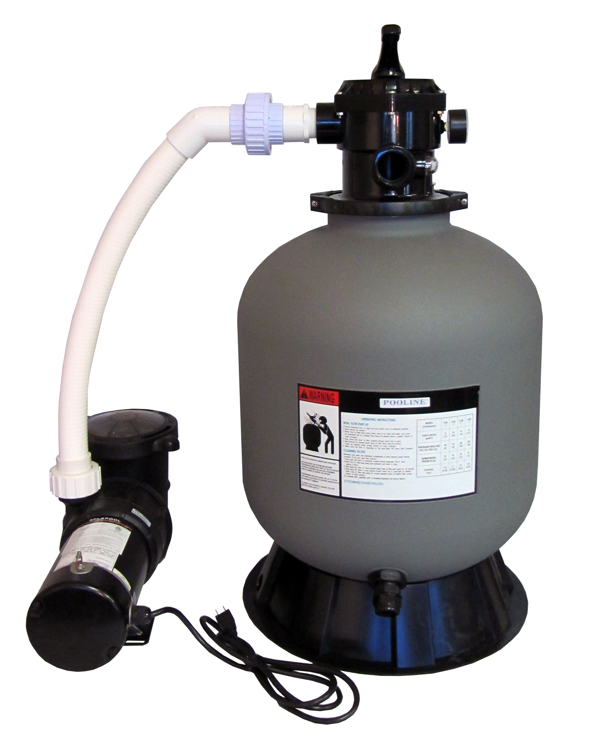 Above-Ground Swimming Pool Sand Filter System with 0.75 HP