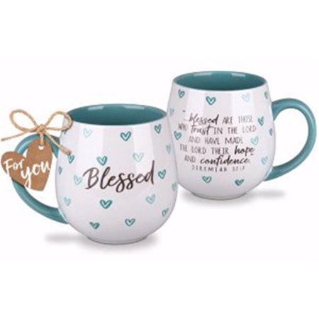 Lighthouse Christian Products 135447 18 oz Ceramic Mug - Happy Heart-Blessed No.18988 - image 1 of 1