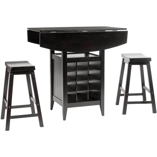 Charmant Safavieh Emeric 3 Piece Drop Leaf Pub Table Set, Espresso