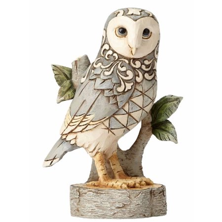 2 Owl Figurines - Jim Shore HWC Wisdom Begins with Wonder White Woodland Owl Figurine 4056970 New